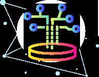 Icoon van kunstmatige assistent datafundament