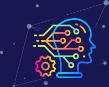 Icoon van kunstmatige intelligentie en kunstmatige assistent